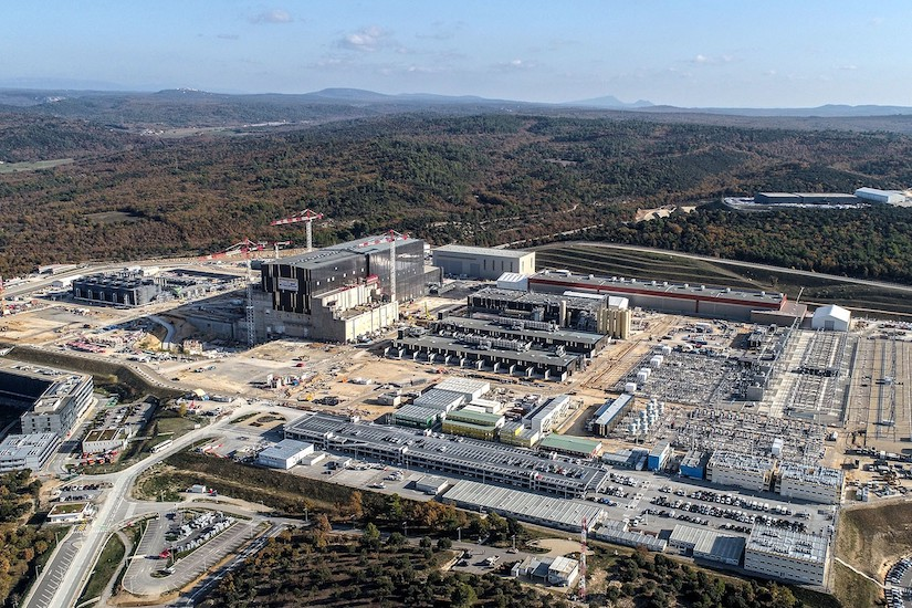 The ITER fusion experiment facility in France in Nov. 2020